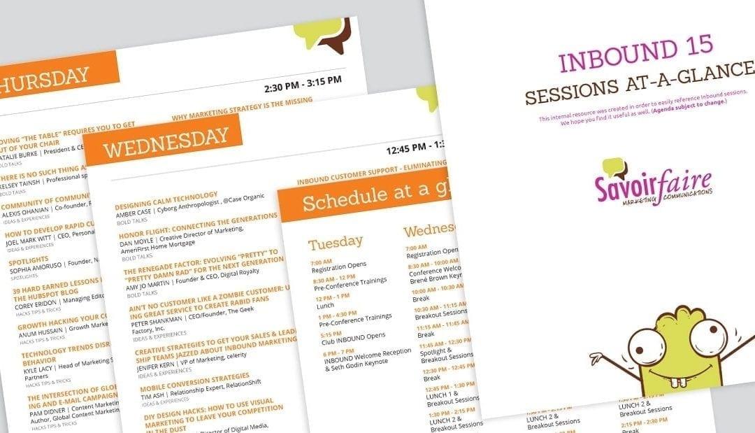#Inbound15 Printable Schedule