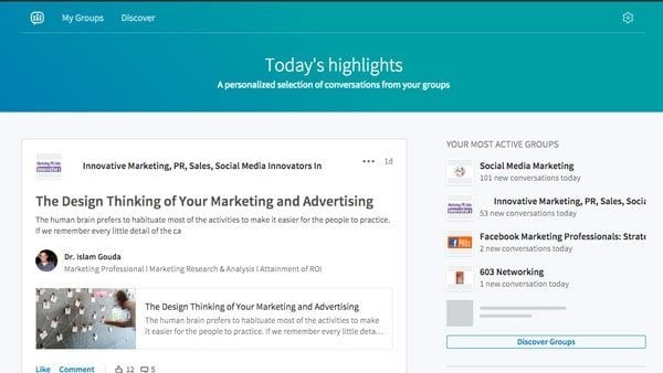 LinkedIn Groups Overhauled