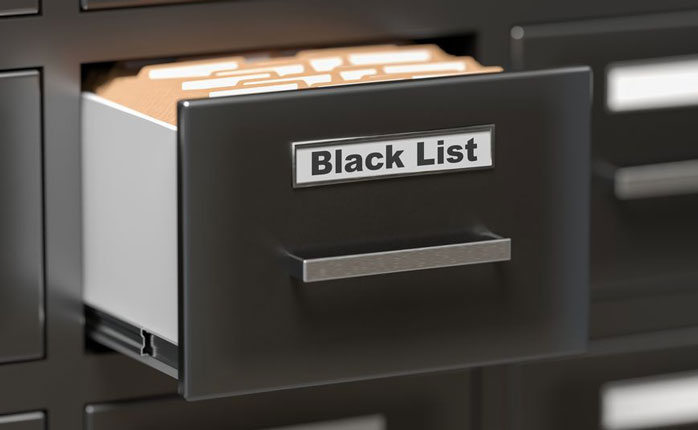 Are you at risk of being blacklisted?