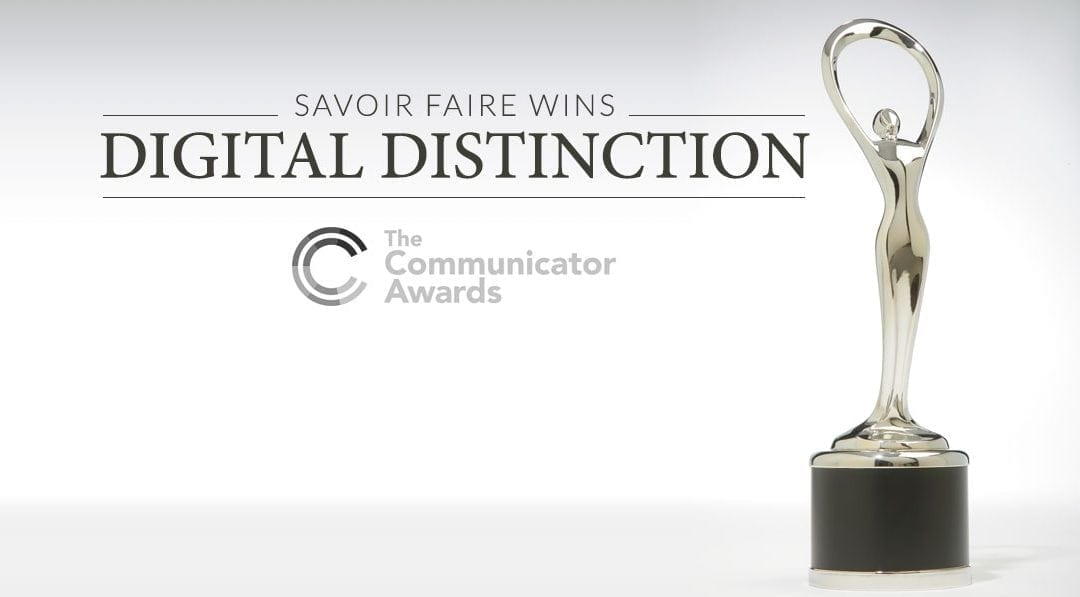Savoir Faire Marketing/Communications Wins 2017 Award of Distinction for Phaneuf Funeral Home Website Redesign