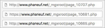 Poor page URLs