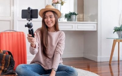 Young person live streaming