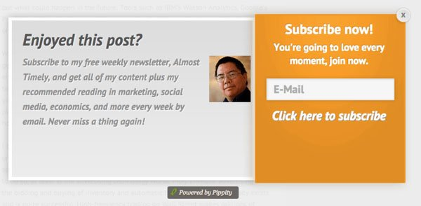 Email signup popup