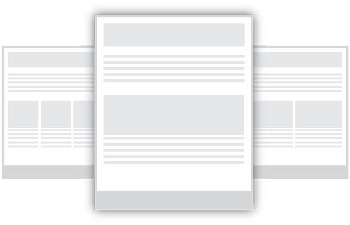 Email layout design