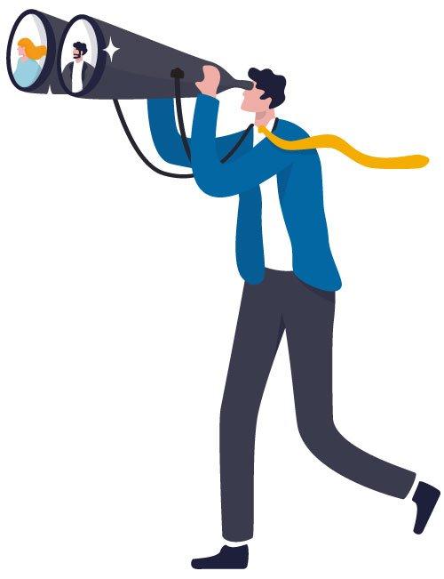 marketing discovery binoculars